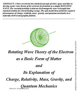Rotating Wave of Electron WHF